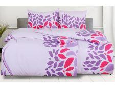 Bettwäsche aus Mikrofaser mit Baumwolleffekt 4tlg.PORTILA violett