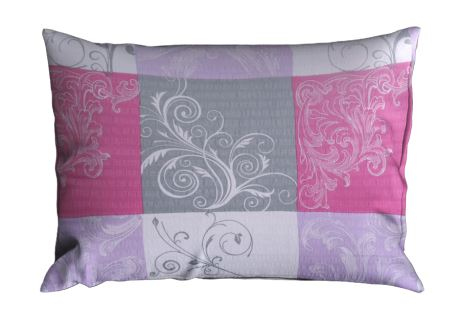 Seersucker Kissenbezug 70x90 cm LATERA violett