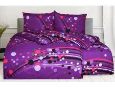 Bettwäsche aus Mikrofaser mit Baumwolleffekt in Übergröße SAVADA violett