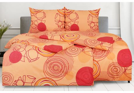 Baumwollbettwäsche RENFORCÉ in Übergröße KARERA Orange