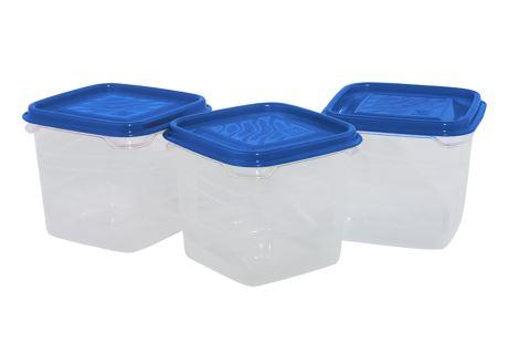 Kunststoffdosen-Set 3 Stk. blau