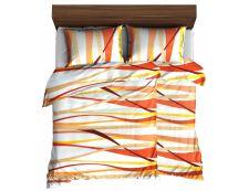 Bettwäsche aus Mikrofaser mit Baumwolleffekt 4tlg.  RIVERA Orange