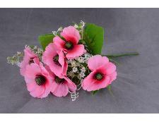 Blumenstrauß künstlicher MOHNBLUMEN rosa