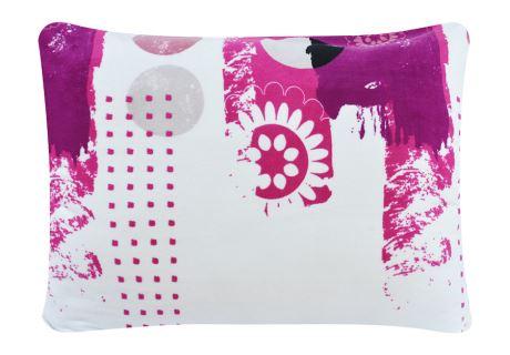 Mikroplüsch-Kissenbezug 70x90 cm MARSALA violett