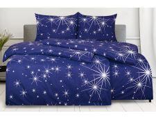 Bettwäsche aus Mikrofaser mit Baumwolleffekt 4 tlg. ETOLA blau