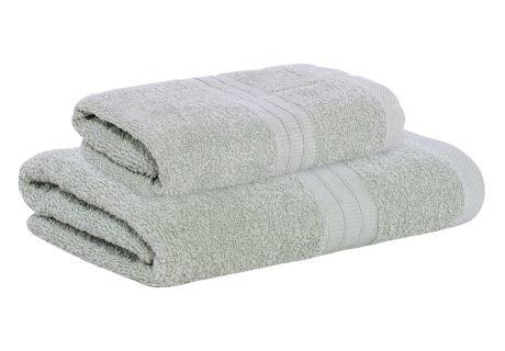 Set Handtuch und Badetuch AMARA grau
