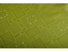 Jacquard ovale Tischdecke KUBE grün 140x220 cm