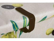 Tischdeckenklammer aus Kunststoff 4 Stk. BRAUN