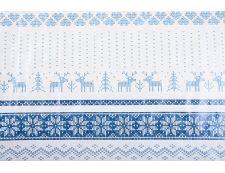 PVC-Tischdecke NORDIC Blau 120x140 cm