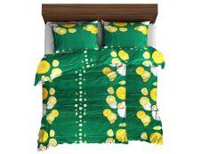 Bettwäsche aus Mikrofaser mit Baumwolleffekt 4 tlg. ANAPOLA grün