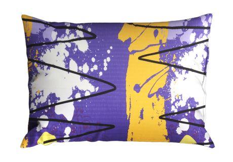 Seersucker Kissenbezug RENFORCÉ 70x90 cm MIDELA violett