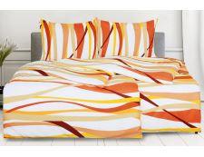 Povlečení s bavlněným efektem 4dílné RIVERA oranžové