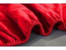 TOP Q Spannbettlaken Jersey in Übergröße ROT 200x220 cm