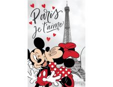 Kinder Fleecdecke MICKEY & MINNIE PARIS