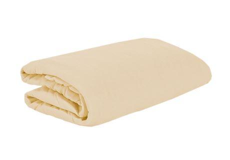 TOP Q Jersey Bettlaken Für eine höhere Matratze geeignet WEIßER KAFFEE 90x200 cm