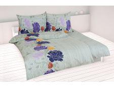 Baumwollbettwäsche 4tlg. AGLIA violett