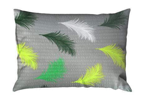 Seersucker Kissenbezug 70x90 cm ABERA grün
