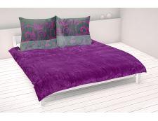 Set Decken und 2 Kissen MIKE violet