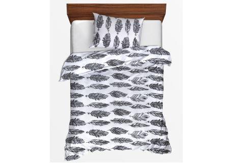 Bettwäsche Seersucker in Übergröße PIERA schwarz-weißer
