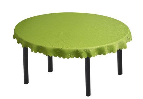 Jacquard ovale Tischdecke KUBE grün 140x180 cm