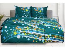 Bettwäsche aus Mikrofaser mit Baumwolleffekt SAVADA grün