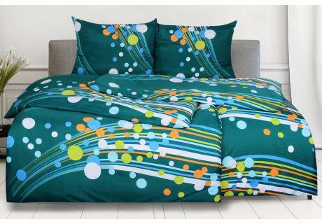 Bettwäsche aus Mikrofaser mit Baumwolleffekt 4 tlg. SAVADA grün