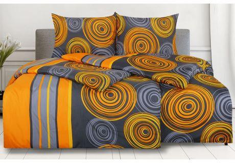 Bettwäsche aus Mikrofaser mit Baumwolleffekt 4tlg. AMBELA orange