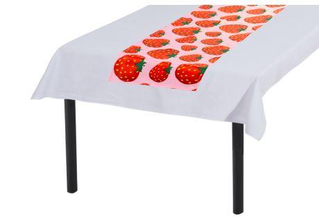 Tischläufer 30x160 cm ERDBEERE
