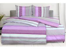 Bettwäsche aus Mikrofaser mit Baumwolleffekt FORTELA lila