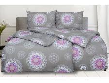 Bettwäsche aus Mikrofaser mit Baumwolleffekt in Übergröße MANOLA violet