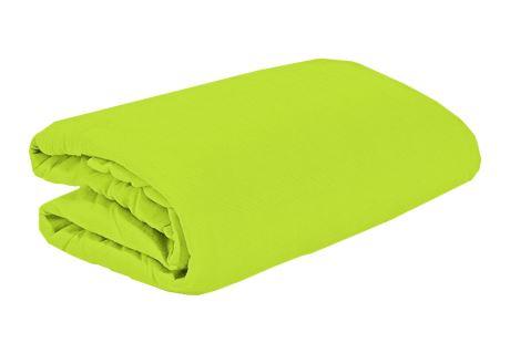 TOP Q Jersey Bettlaken Für eine höhere Matratze geeignet LIMETTE 2 180x200 cm