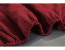 Spannbettlaken Jersey WEINROT 180x200 cm