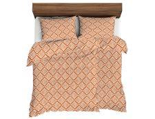 Bettwäsche aus Mikrofaser mit Baumwolleffekt 4tlg. LANA Karamell