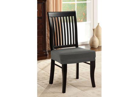 Spannbezug für Stuhl ohne Rückenlehne 2 Stk. grau