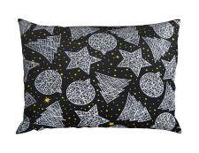 Bettwäsche aus Mikrofaser mit Baumwolleffekt 4 tlg. KRISTA Schwarz