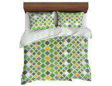 Bettwäsche aus Mikrofaser mit Baumwolleffekt KASTELA grün