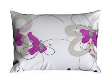 Bettwäsche aus Mikrofaser mit Baumwolleffekt ENEGA Violett
