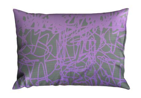 Seersucker Kissenbezug 70x90 cm DISELA violett