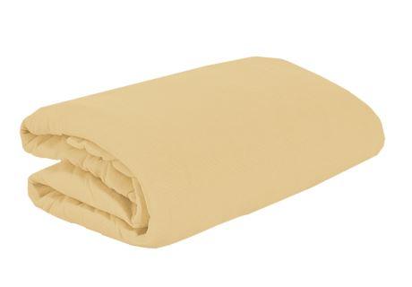 TOP Q Jersey Bettlaken Für eine höhere Matratze geeignet BEIGE 2 180x200 cm