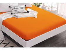 TOP Q Jersey Bettlaken Für eine höhere Matratze geeignet GELBORANGE 2 180x200 cm