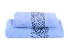 Set Handtuch und Badetuch KEFALA blau